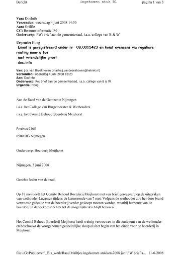 Brief d.d. 4 juni 2008 - Gemeente Nijmegen