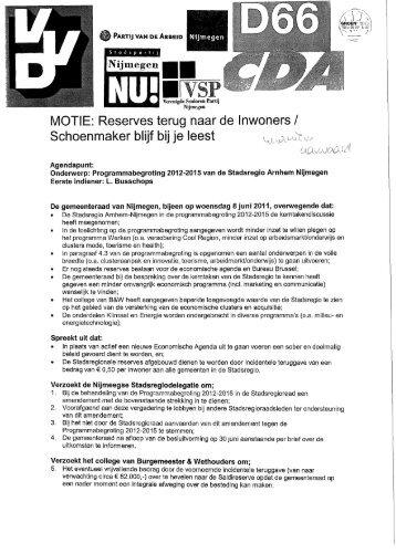 MOTIE - Gemeente Nijmegen