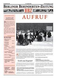 unterwegs - Berliner Behindertenzeitung
