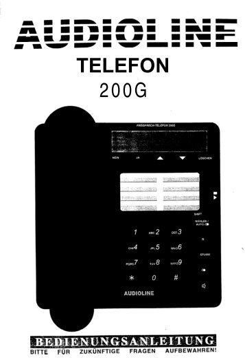 TELEFON 200G - Produktinfo.conrad.com