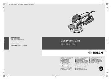 GEX Professional - Produktinfo.conrad.com