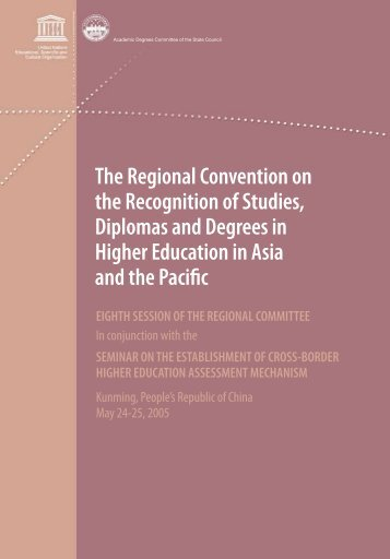 The Regional Convention on the Recognition of Studies, Diplomas ...