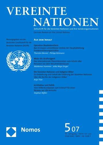 vereinte nationen - Friedrich-Schiller-Universität Jena