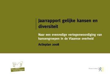 Jaarrapport gelijke kansen en diversiteit - Vlaanderen