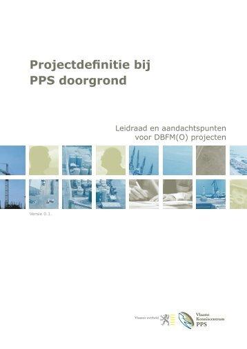 Projectdefinitie bij PPS doorgrond - Vlaanderen