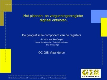 Slides in verband met de geografische component van ... - Vlaanderen