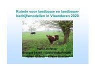 Ruimte voor landbouw en landbouw- bedrijfsmodellen ... - Vlaanderen
