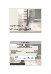 Implementatie van bouwknopen in EPR - Vlaanderen