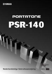 PSR140NL frontcover - Yamaha