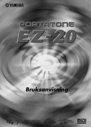 EZ-20 Svensk bruksanvisning - Yamaha