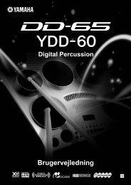 DD-65/YDD-60 Brugervejledning - Yamaha Downloads
