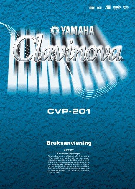 CVP-201 Svensk bruksanvisning - Yamaha