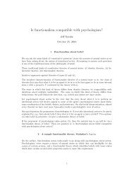 Is functionalism compatible with psychologism?