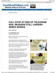 full stop at end of telegram era, readers still cherish wired words