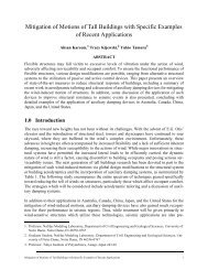Mitigation of Motions of Tall Buildings with Specific Examples of ...
