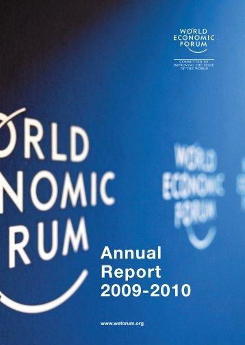 Annual Report 2009-2010 - World Economic Forum