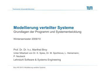 Systeme als Zustandsmaschinen - Software and Systems ...