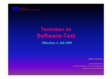 Software-Test - Software and Systems Engineering