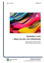 Kemikalier i varor - tillsyn hos sko- och möbelhandel - Göteborg