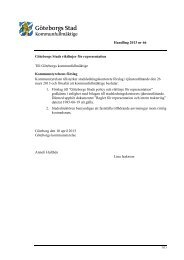 Handling 2013 nr 66 Göteborgs Stads riktlinjer för representation Till ...