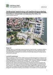 Antikvarisk beskrivning och bedömningsunderlag pdf, 2 ... - Göteborg