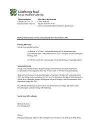 Tjänsteutlåtande bidrag till externa psykiatriprojekt 2013 - Göteborg