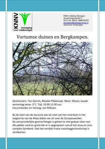 Vortumse duinen en Bergkampen.