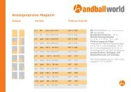 Anzeigenpreise Magazin - Handballworld
