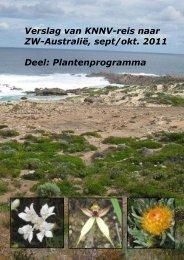 Verslag van een KNNV-reis door ZW-Australiė
