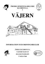 INFORMATION OCH ORDNINGSREGLER - IdrottOnline Klubb