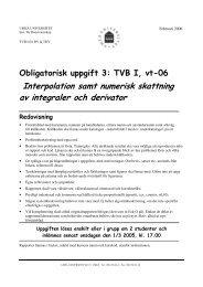 Interpolation samt numerisk skattning av ... - Umeå universitet