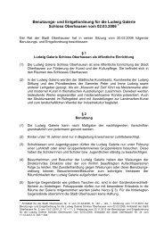 Benutzungs- und Entgeltordnung für die Ludwig ... - Stadt Oberhausen