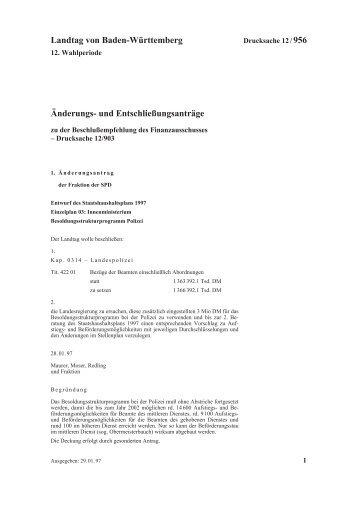 0956 - Landtag von Baden-Württemberg