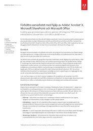 Förbättra samarbetet med hjälp av Adobe® Acrobat® X, Microsoft ...