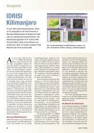 IDRISI Kilimanjaro - Universität Klagenfurt
