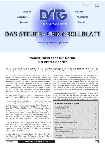 die Fachgewerkschaft der Finanzverwaltung - Dstg-Berlin