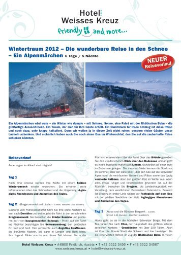 Wintertraum 2012 - Hotel Weisses Kreuz Feldkirch