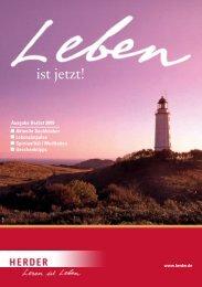 Aktuelle Sachbücher Lebensimpulse Spiritualität ... - Verlag Herder
