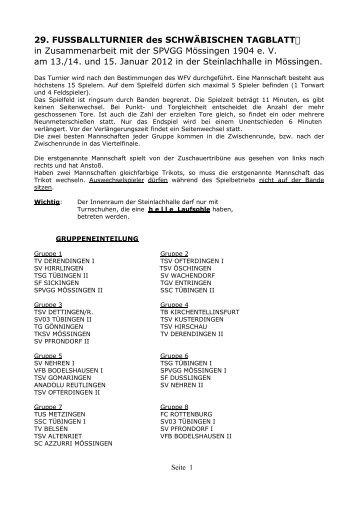 29. FUSSBALLTURNIER des SCHWÄBISCHEN TAGBLATT6 in ...