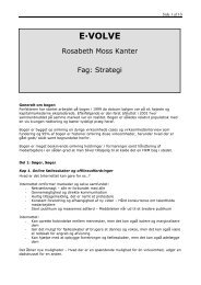 Rosabeth Moss Kanter: E-volve - Black Diamond Consulting