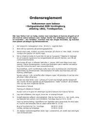 Ordensreglement - Domea
