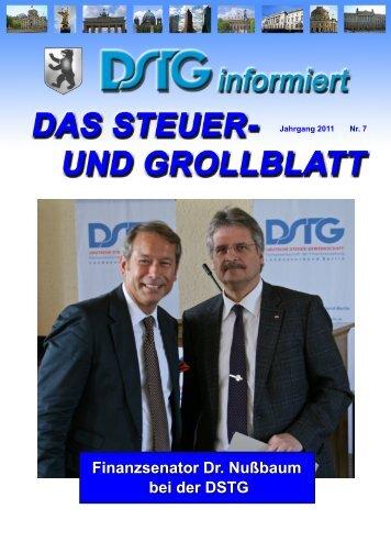Finanzsenator Dr. Nußbaum bei der DSTG - DSTG-Berlin