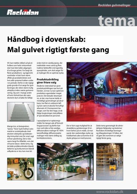 Hent tema om maling af betongulve i pdf - Rockidan