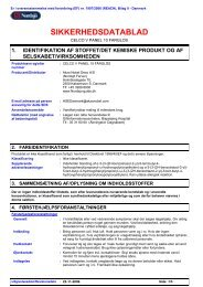 Sikkerhedsdatablad (pdf) - Nordsjö Produkt