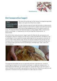 Det kooperative bageri - England - Kooperationen