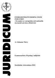ENERGIEFFEKTIVISERING INOM INDUSTRIN - En ... - Juridicum