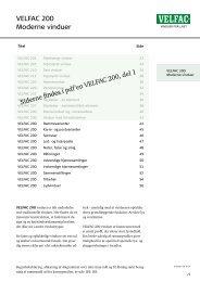 VELFAC 200 Moderne vinduer - ProductInformation.dk