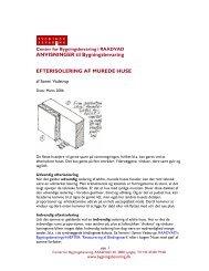 ANVISNINGER til Bygningsbevaring EFTERISOLERING - Center for ...