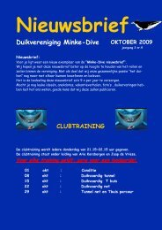 Duikvereniging Minke-Dive OKTOBER 2009