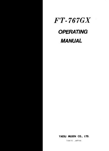 ft-767gx manual - n7tgb